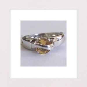 Jewelry - Genuine Citrine & Sterling Silver Ring | Size 8